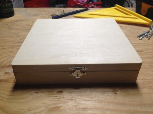 Simple wooden box from Michael's Crafts